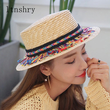 2019 New Parent-child Panama style Fashion Tassel Braid Adult Children sun hats Visor Spring Summer Ourdoor Beach Straw Hats