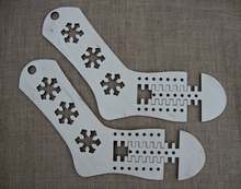 2 pcs Wooden Sock blockers Knitting Sock forms shapes Blockers Knitting tools gift for beginners cheap CN(Origin) gifts