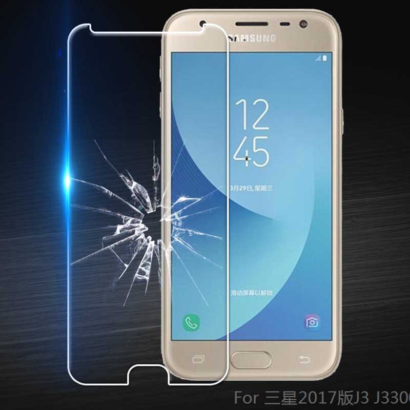 Tempered Glass For <font><b>Samsung</b></font> <font><b>Galaxy</b></font> <font><b>J3</b></font> <font><b>2017</b></font> <font><b>J330F</b></font> J330G/<font><b>DS</b></font> <font><b>J3</b></font> Pro (<font><b>2017</b></font>) <font><b>Screen</b></font> Protector Protective Film Glass image
