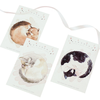 30 sztuk/paczka kawaii kot śpi cały dzień biznes zestaw kart kartka z życzeniami do codziennego życia urodziny zaproszenie pocztówka