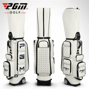 Pgm Women Golf Standard Bag Pu Waterproof Golf Bags Large Capacity Travel Golf Bags Professional Golf Cart Club Packages D0082 фото