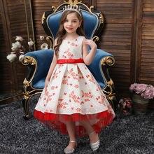 Красивые милые платья для девочек с круглым вырезом спереди;