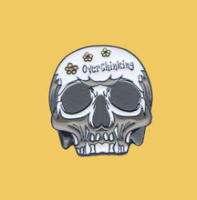 o201 Punk Overthinking Funny Skull Amazing Art Enamel Pin Brooch Creative Cartoon Denim Coat Lapel Badge Jewelry Gift(China)