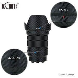 Image 4 - Anti Graffio Lente E Lente Cappuccio Della Pelle In Fibra di Carbonio Pellicola Per Sony E PZ 18 105mm F4G OSS SELP18105G Lens & ALC SH128 3M Adesivo