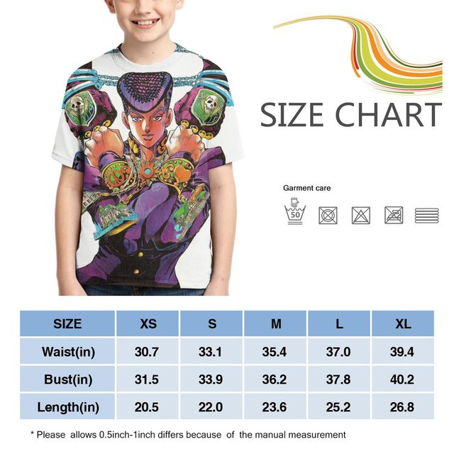 Teen 3D Printing JOJO Anime Cartoon T-shirt Jojo Bizarre Adventure T-shirt Kids T-shirt jojo figure Summer Interesting Top 3