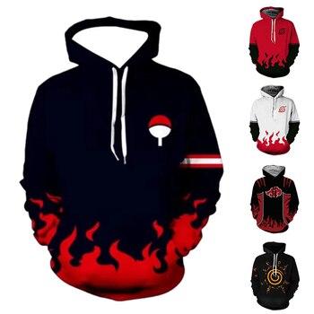 Anime Naruto Hoodies Streetwear 3D Print Anime Cartoon Harajuku Naruto Naruto family crest Hoodies Long Sleeve Up Sweatshirt Top