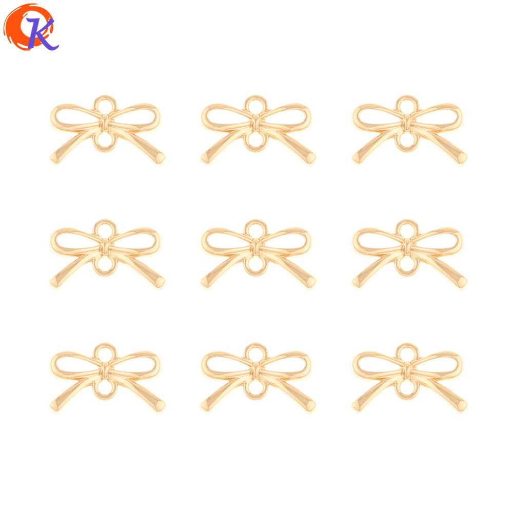 Cordial Design 200Pcs 8*13MM Jewelry Accessories/Earrings Connectors/Bowknot Shape/Hand Made/DIY Making/Charms/Earring Findings
