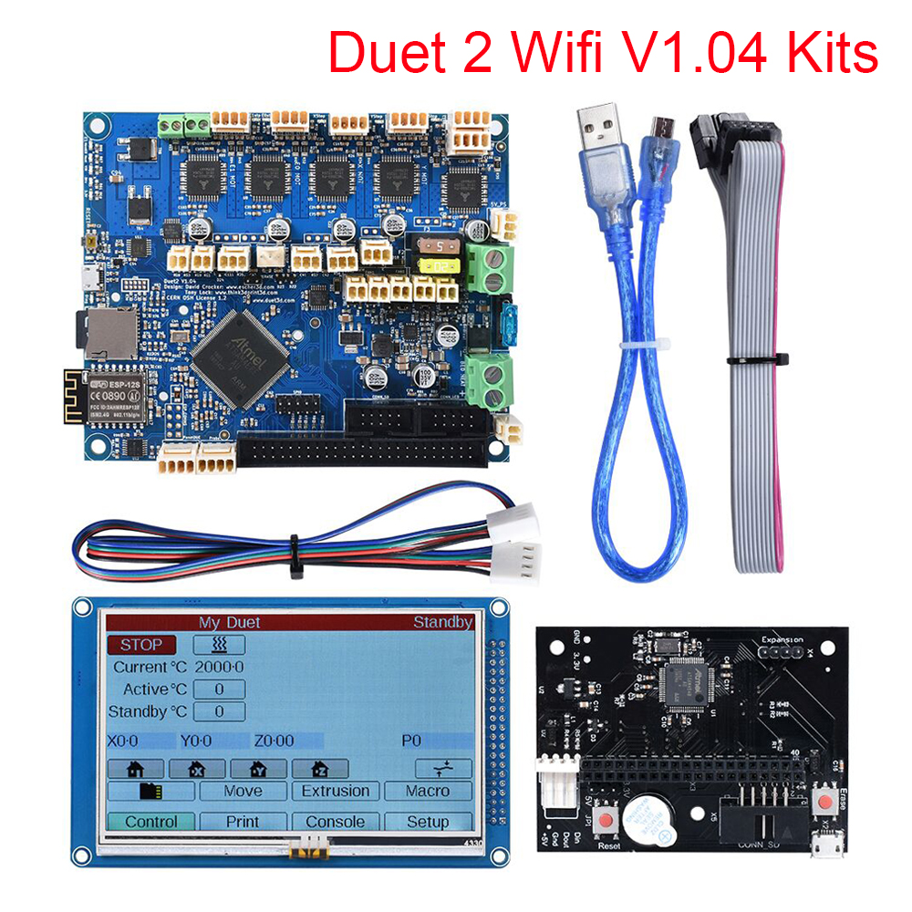 Duet 2 Wifi V1 04 Cloned DuetWifi 32 Bit Control Board 4 3  5  7   PanelDue Touch Screen 3D Printer Parts CNC Ender 3 Pro Duex5