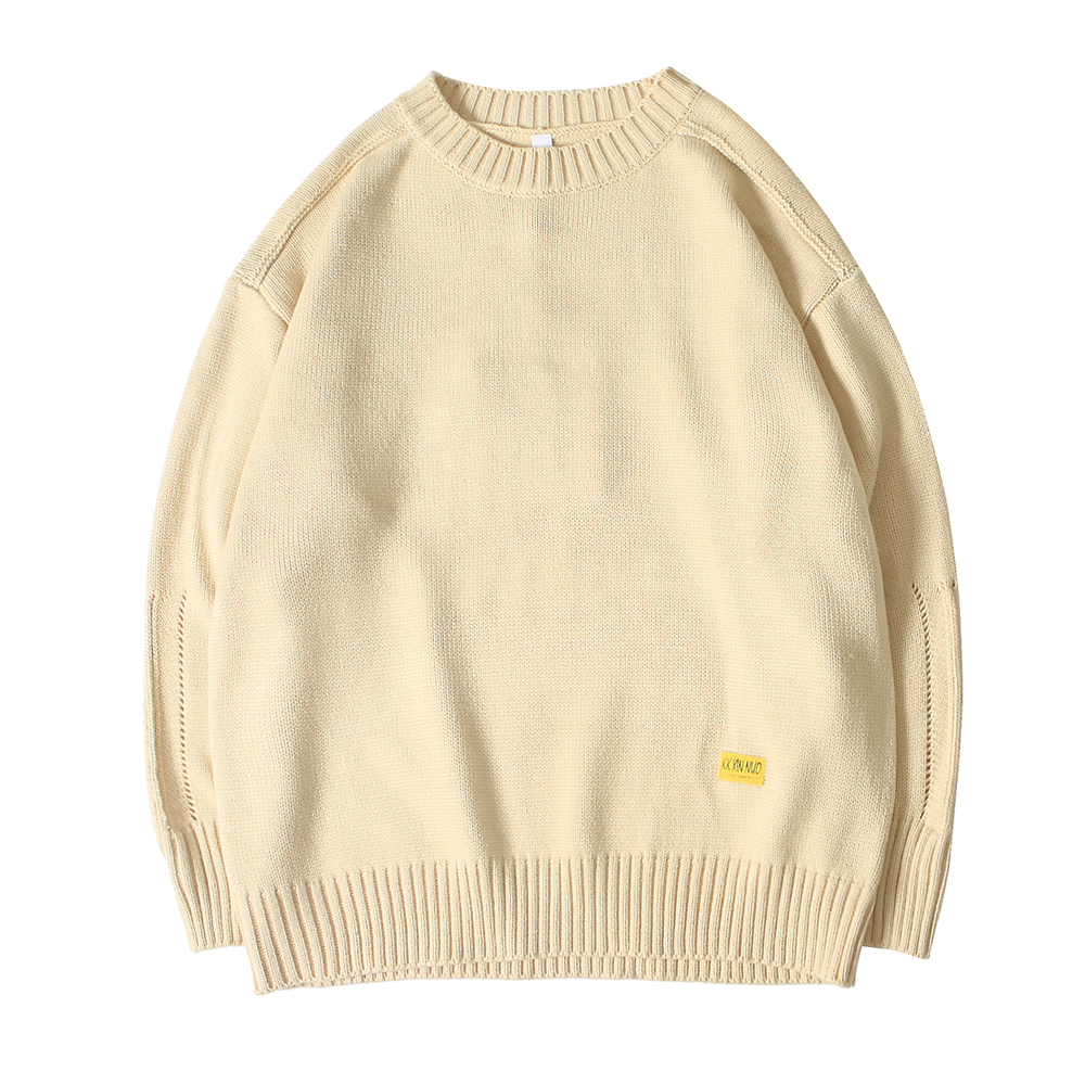 Men Korean Fashion Loose Sweater 2020 Mens Winter Harajuku Thick Sweater Male Pullover O-Neck Streetwear Solid Sweater Coat