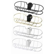 Metal Kitchen Faucet Clip Sink Hanging Storage Holder Sponge Soap Cloth Drain Rack Bathroom Shower Pole Shelf Caddy Organizer