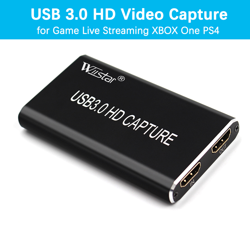 UNISHEEN USB 3.0 Capture HDMI Video Adapter Card Broadcast Live Stream and Record HDMI to USB 3.0 Dongle HD 1080P Live Streaming Video Game Grabber Converter,Silver