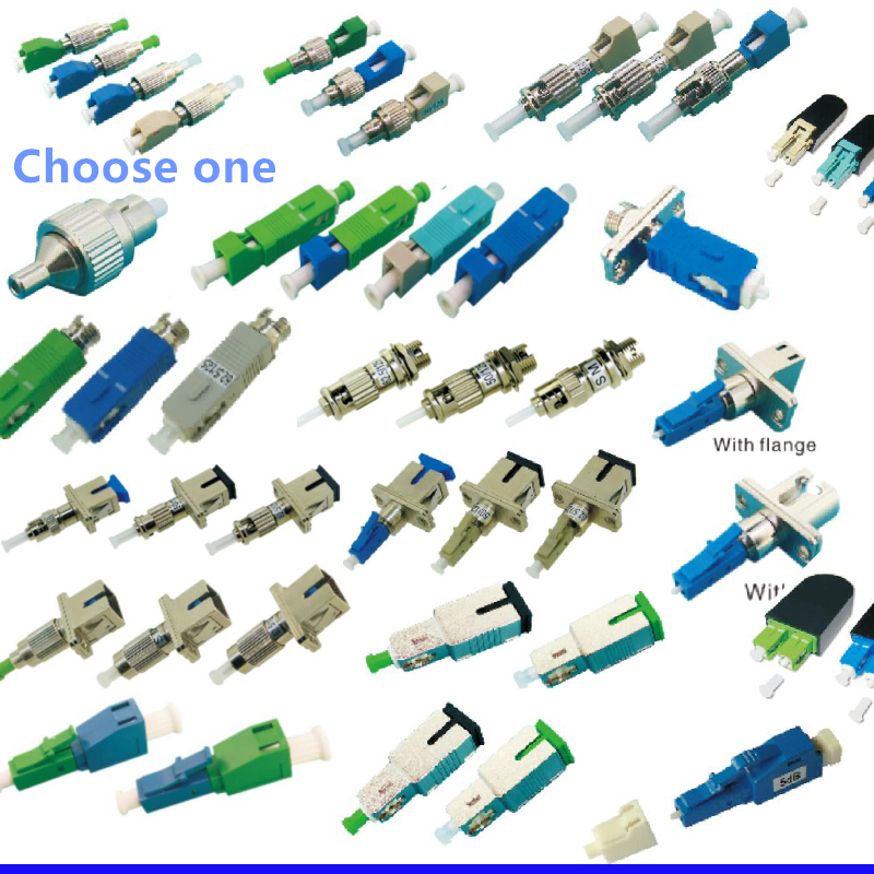 Hybrid Optical Fiber Connector Adapter Fiber Optic Coupler Cable Joint FC SC ST LC APC UPC Fiber Coupler Fiber Bridge Choose 1pc