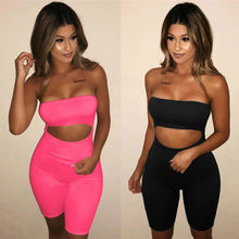 Fashion Womens Off Shoulder Playsuit Bodycon Sleeveless Jumpsuit Strapless Rompers