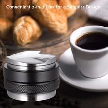 Profundidad ajustable para Espresso, distribuidor de café de 53mm, doble cabezal, Espresso, nivelador para portafiltro de 54mm