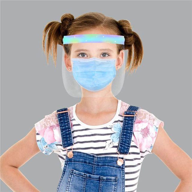 Child Transparent Protect Mask Protective Adjustable Anti-saliva Dust-proof Full Face Cover Children Mask Visor Shield 2