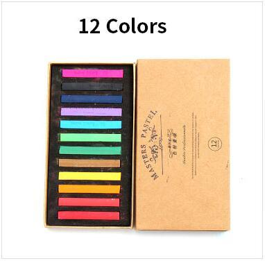 48 Colors Painting Crayons Soft Pastel Art Drawing Set Hair Color Chalk Color Crayon Brush Stationery for Students art Supplies 4