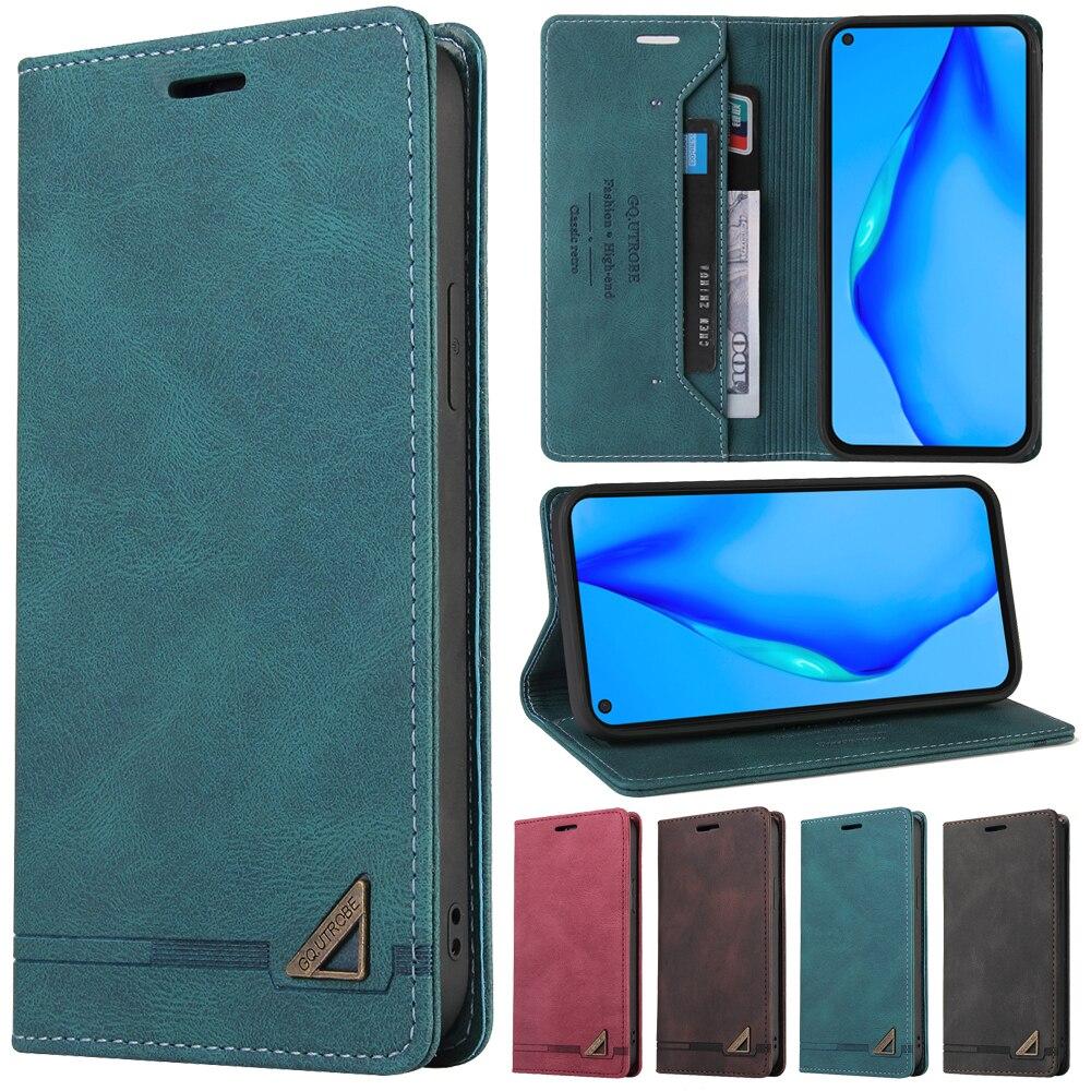 Роскошный кожаный чехол-кошелек с защитой от кражи для Huawei P40/P30/P20 Pro Lite E Y5P Y6P Y7P P Smart Z 2019 2020 2021, чехол для телефона