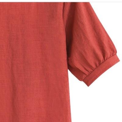 summer women linen tops good quality lady tops cotton 2021 newest women linen blouse popular comfortable style slim blouse