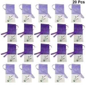 20PCS Sachet Bags Empty Organza Cotton Cloth Flower Lavender Fragrance Bag For Seeds Dry Flowers Sachet Storage Air Fresher