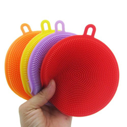 1Pcs Silicone Dish Bowl Scrubber Dirt Cleaning Kitchen Towel For Non-Stick Oil Cleaning Washing Tool Kitchen Cleaning Brush