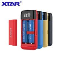 XTAR כוח בנק LCD USB מטען QC3.0 סוג C קלט PB2S עבור 18700 20700 21700 18650 סוללה/רק PB2 סוללה מטען עבור 18650