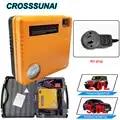 AU Plug Portable Car Jump Starter Power Bank 12V Inflator Air Pump Booster Emergency Charger Warn Light Battery 16800mAh