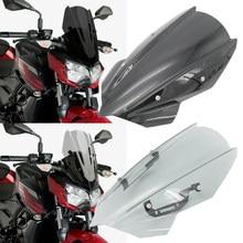 Para kawasaki z250 z400 Z-250 Z-400 2019 z 250 z 400 bolha dupla motocicleta esportes windshield windscreen viser defletor