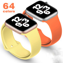 Silicone strap for Apple Watch band 44mm 40mm 38MM 42MM Rubber belt Watchband bracelet Accessories Iwatch 3 4 5 6 se