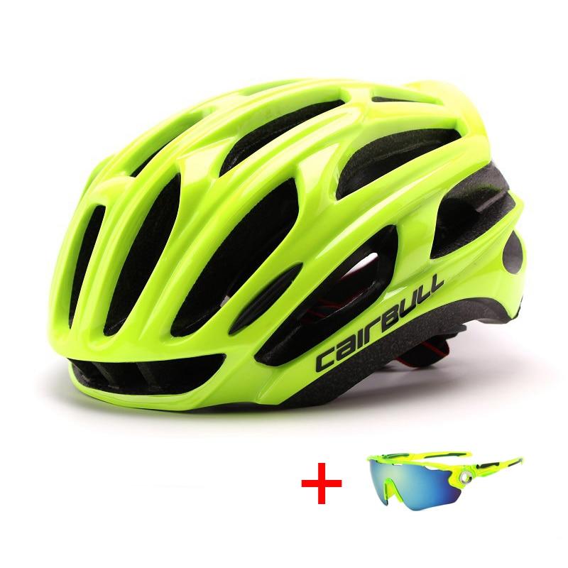 Шлем для горного велосипеда, шоссейного велосипеда с солнцезащитными очками, унисекс, спортивный шлем для езды на велосипеде, Сверхлегкий XC...
