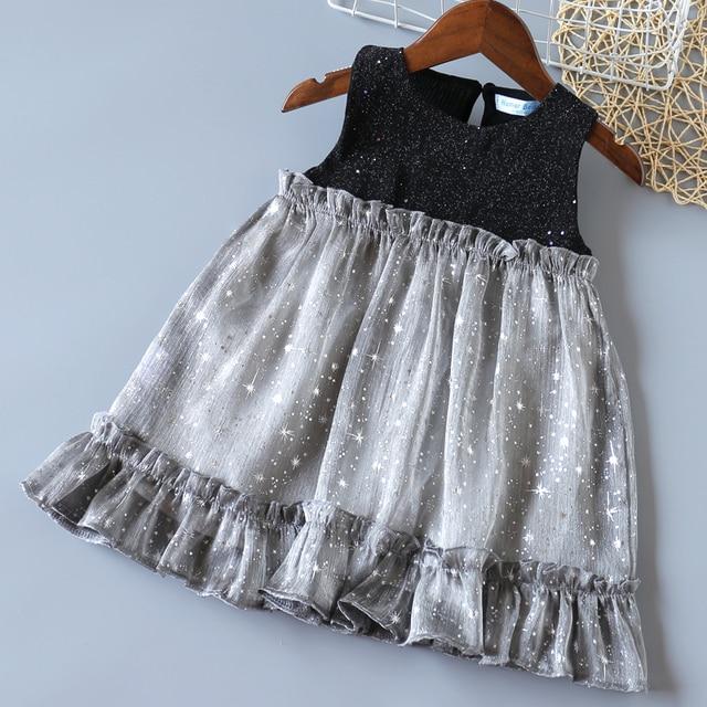 Humor Bear Girls Dress 2020 New Brands Baby Dresses Tassel Hollow Out Design Princess Dress Kids Clothes Children's Clothing 5