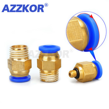 Pneumatic Air Tube Connector The Compressor Parts Straight Push In Fitting 1/21/43/81/8Male-4 6 8 10 12mm