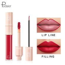 Pudaier 20 colors Liquid Lipstick Filling Lip Line Pen Double Head Matte Moisturizing Glaze Makeup Cosmetics