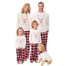 2020 семейный Рождественский пижамный комплект с оленем и лося
