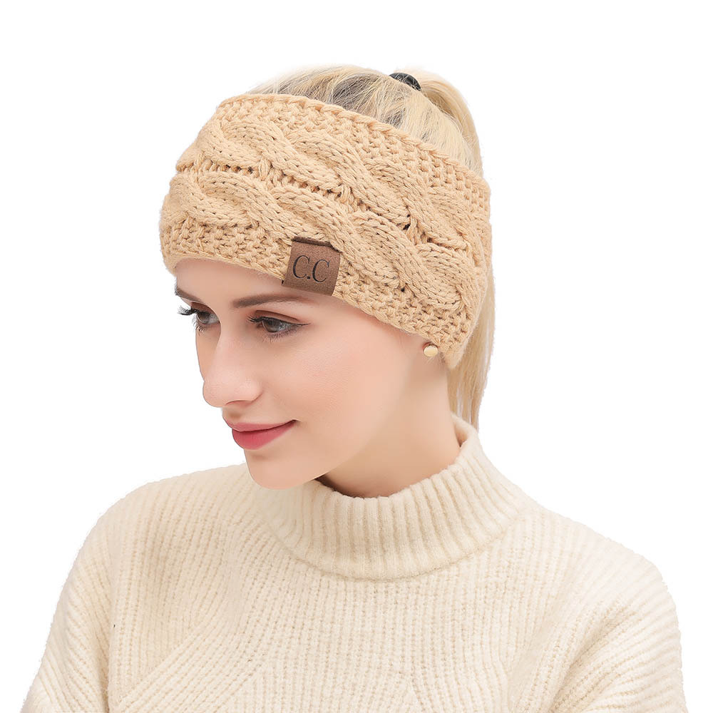 1PC Occident Winter Wool Line Knitting Women Head Bands Fashion Wide-brimmed Protect Ear Elastic Head Wear Hair Accessories