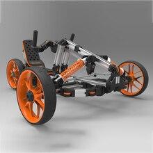 Docyke DIY Творческий застройку аттракционы набор контактов для тестирования 10 в 1 Электрический велосипед Go Kart самокат баланса с алюминиевым, которые поддерживают несколько режимов рамка для малыша