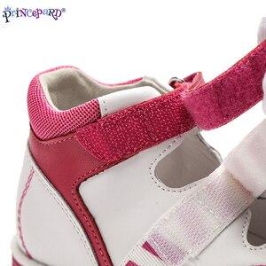 Image 4 - Princepardガールズサンダルキッズ整形外科革の靴甘いプリンセスピンクとブルー矯正sandalas男の子の女の子のため