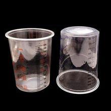 10 шт пластиковые стаканчики для Смешивания Краски 600 мл смешивающий горшок для Смешивания Краски калиброванный набор стаканчиков