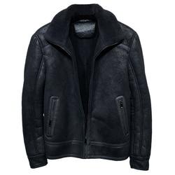 2020 Vintage Mens Lamb Fur Jacket and Coat Black Winter Wool Coat Khaki Leather Jacket Plus 5XL Man Shearling Coats Real Picture