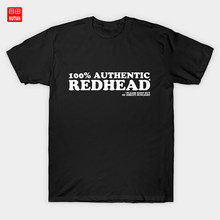 100% Authentic Redhead T-Shirt Irish Ireland Girl With Red Hair Gingers Redhair Ginger Hair Ginger Redhead Funny Redhead Red(China)