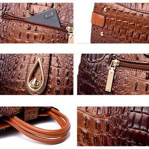 Image 4 - DIINOVIVO Vintage Crocodile Ladies Handbags High Quality PU Leather Women Shoulder Bags Famous Brand Crossbody Bag New WHDV1225