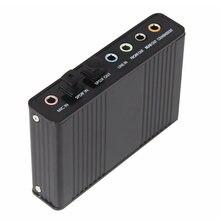 Usb звуковая карта аудиоадаптер 6 канальный 51 внешний spdif