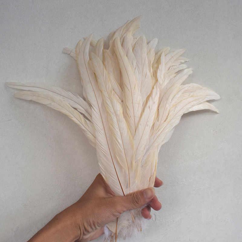 50 pièces/lot 10-16 pouces/25-40 cm/haute qualité coq queue plume/bricolage accessoires de fête de mariage accessoires