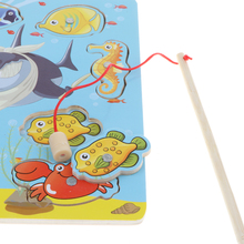 Magnetic Fishing Game   Jigsaw Puzzle Wooden Early Developmental Toy Gift