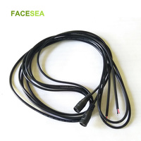 100pcs 1m 2m 3m DC Female Power Connector 5.5x2.1mm Extension Cord 22awg black white for CCTV LED Strip light
