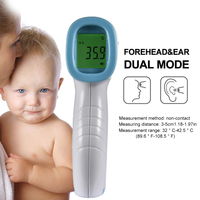 Baby Non contact IR Infrared Thermometer Handheld Digital LCD Forehead Pyrometer Gun Children Adult Thermometer 14.9*7.7*4.3cm