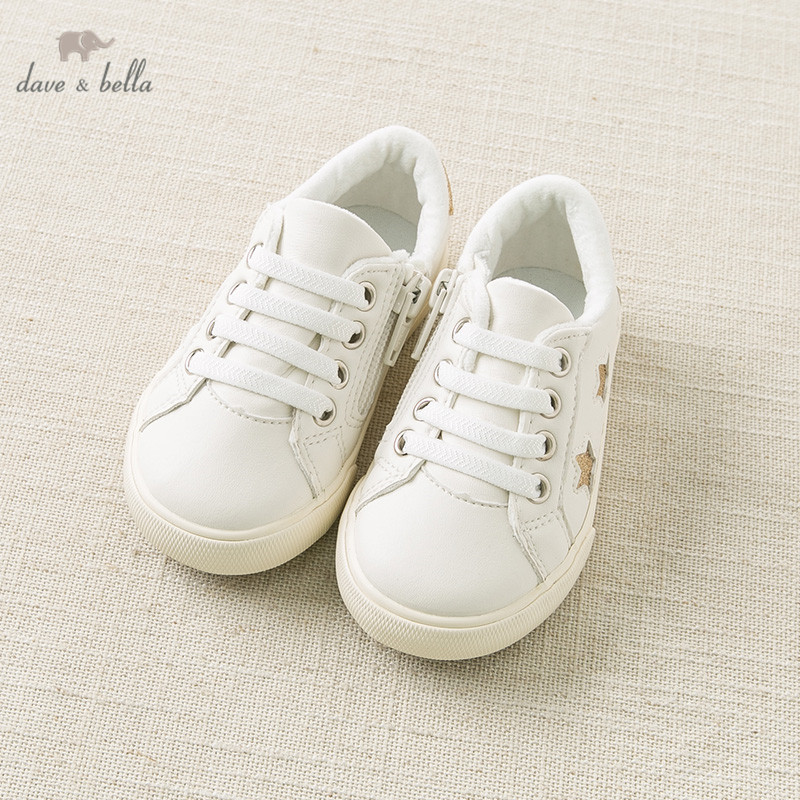 DB11607  Dave Bella Spring Autumn Unisex Baby Star Shoes Baby Boy Girl Casual Shoes White Shoes