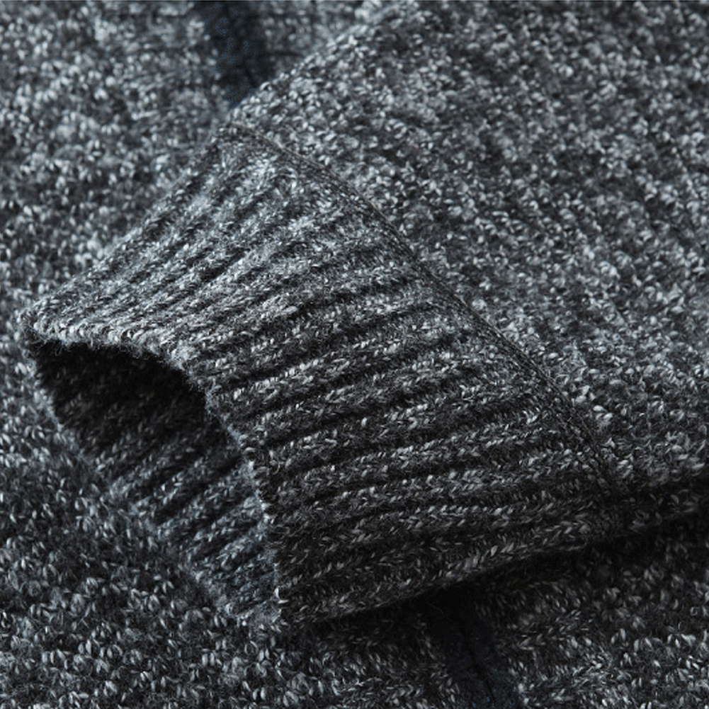 Men's Sweaters Autumn Winter Warm Knitted Sweaters Men Knitted Sweater Pockets Plush Liner Warm Slim Cardigan Coat 4