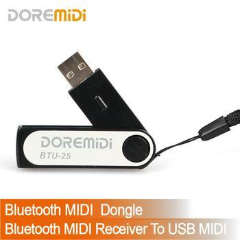 DOREMiDi Bluetooth MIDI odbiornik Bluetooth MIDI Dongle BLE MIDI BTU-25 tanie i dobre opinie CN (pochodzenie) Profesjonalny sprzęt audio 0 02g 56*15*10mm
