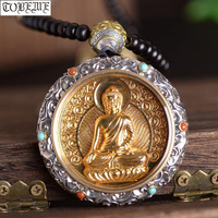 100% 925 Silver Tibetan Sakyamun Buddha Pendant Buddha Statue Pendant Necklace Sterling Buddha Pendant Good Luck Necklace