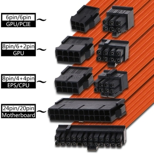 30/40cm A-TX Grundlegende Verlängerung Kabel PC GPU CPU Netzteil Draht Computer Anschlüsse 24-PIN 8-PIN 6PIN 4 + 4PIN 1 Set Hohe Qualität